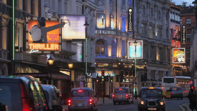 london theatres - theatre building stock videos & royalty-free footage