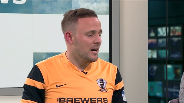 london titans and queens park rangers fc join forces to tackle homophobia in the sport; phil steer and paul finney live studio interview sot - omofobia video stock e b–roll