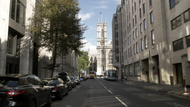 london tothill street and westminster abbey - abbey stock videos & royalty-free footage