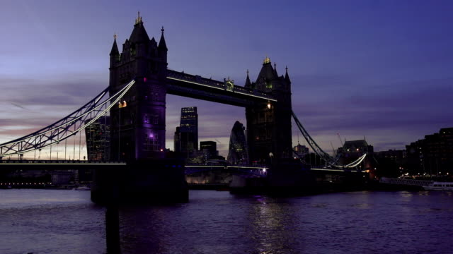 London Tower Bridge And The City At Night