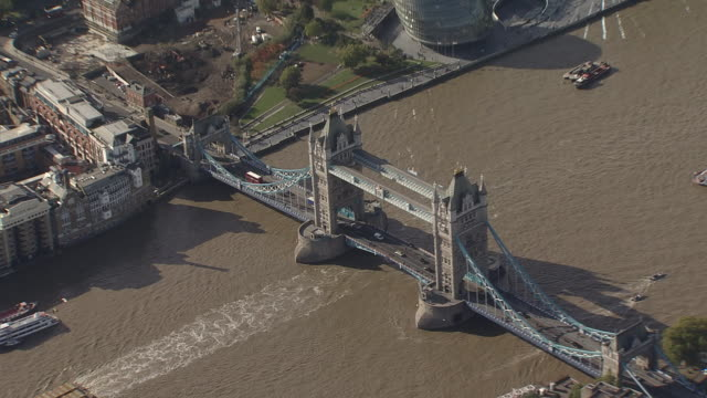 London Tower Bridge Overview by Helicopter