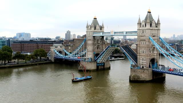 London Tower Bridge River Thames boat skyline business city