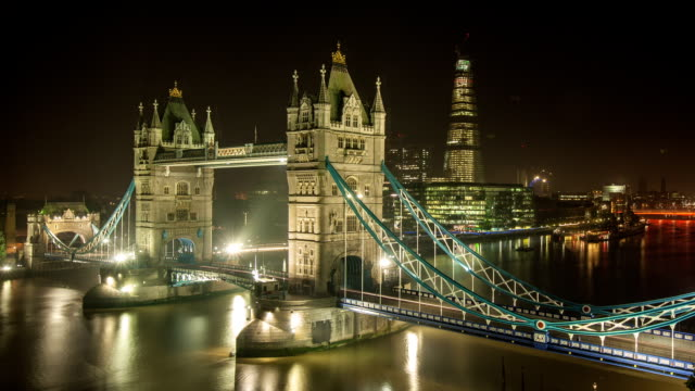 Tower Bridge-London, Zeitraffer Nacht