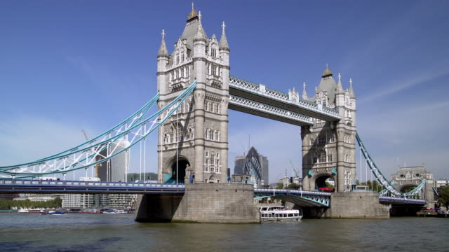 london tower bridge to the north - famous place stock videos & royalty-free footage