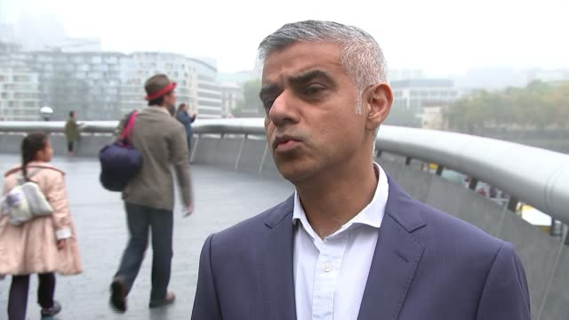 London Toxicity Charge / London Underground air quality ENGLAND London City Hall EXT Sadiq Khan interview SOT in 2019 the Low Emission Zone will...