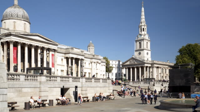 london trafalgar square and st martin-in-the-fields - pinnacle stock videos & royalty-free footage