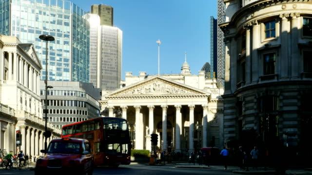 London Traffic Around Royal Exchange