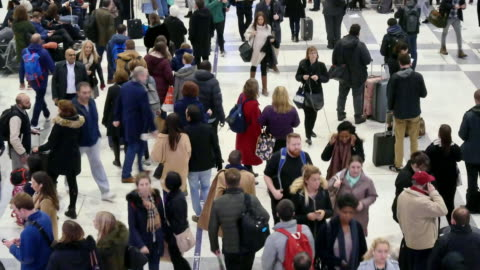4k london train tube underground station, passengers in rush hour, england, uk - underground station platform stock videos & royalty-free footage