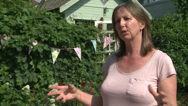 london trend towards growing your own food england london ext woman looking at flowers in garden centre 'grow your own' sign over fruit asnd... - window sill stock videos and b-roll footage