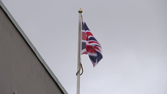 London Tube bomber accomplice worked for Southwark Council ENGLAND London Peckham EXT Union Jack flag over Southwark Council building Wide shot...