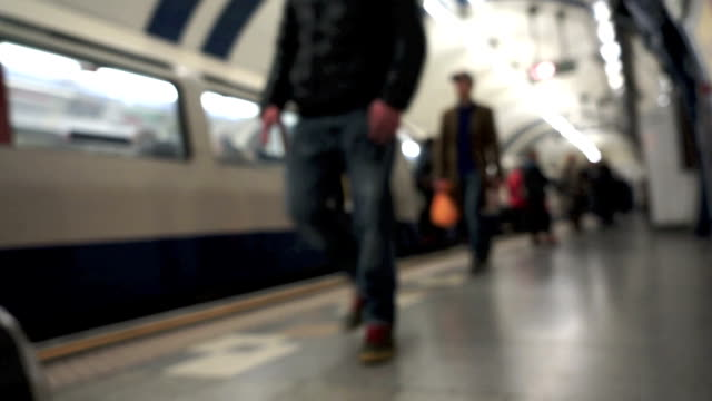 london tube underground train station - getting out stock videos & royalty-free footage