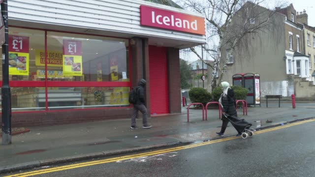 retail food store iceland make the first hour of shopping for the elderly and vulnerable at the coronavirus pandemic london on march 19 2020 in... - senior adult stock videos & royalty-free footage