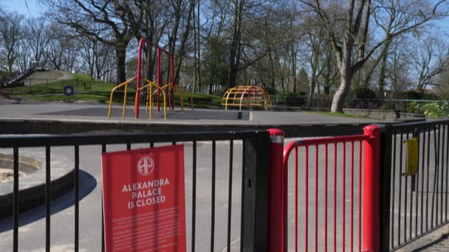 closed children's playgrounds due to the global coronavirus at coronavirus outbreak in london on march 25 2020 in london england - playground stock videos & royalty-free footage