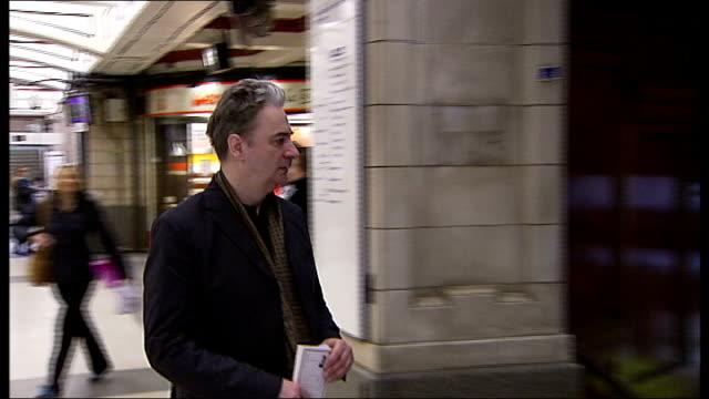 books dedicated to tube lines bakerloo line england london ext journalist and tv presneter paul morley standing outside baker street london... - メリルボーン点の映像素材/bロール
