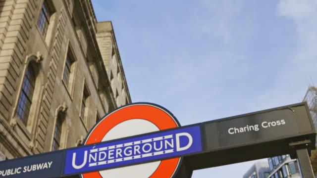 london underground sign - shaky stock videos & royalty-free footage