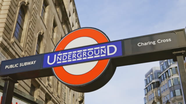 london underground sign - station stock videos & royalty-free footage