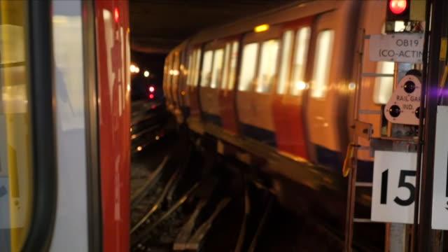 london underground tube train - london underground stock videos & royalty-free footage
