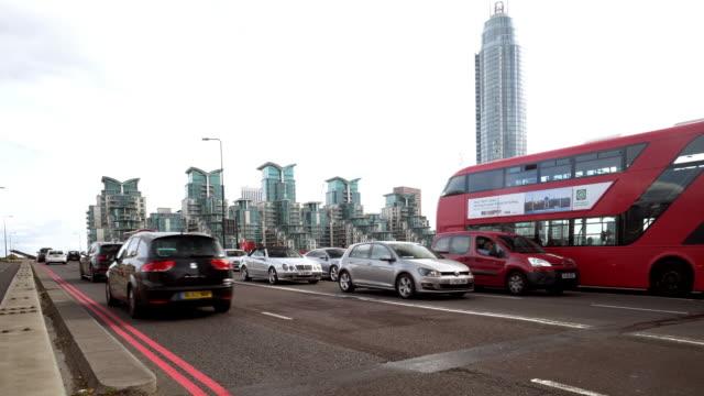 london vauxhall bridge - traffic jam stock videos & royalty-free footage