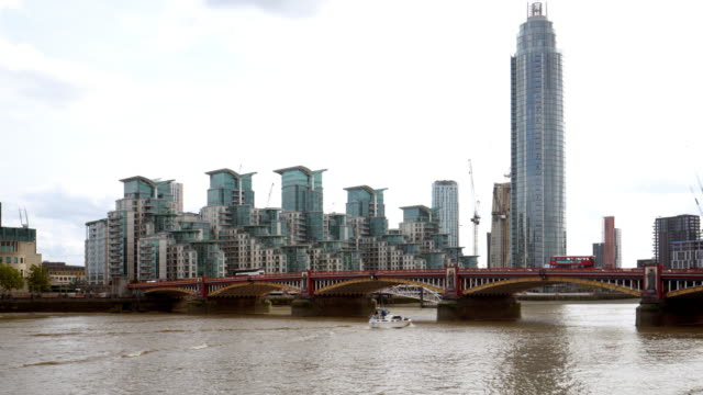 london vauxhall st george wharf with st george wharf tower - bridge built structure stock videos & royalty-free footage