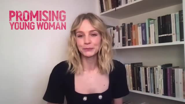 london via zoom: carey mulligan on being 'petrified' of acting in a comedy such as 'promising young woman' and always choosing dramas in the past on... - choosing stock videos & royalty-free footage
