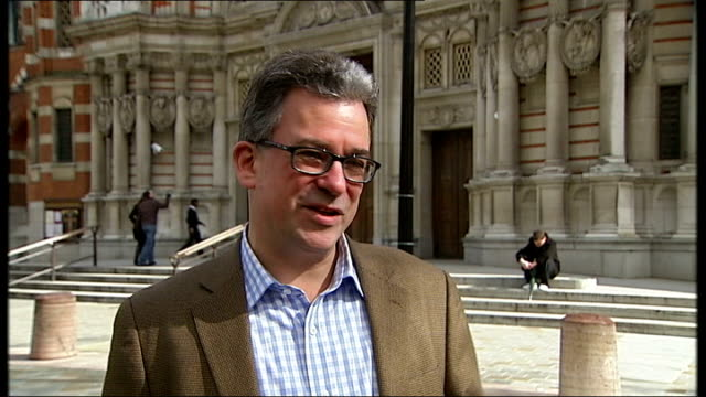 victoria: general views westminster cathedral austen ivereigh interview sot - westminster cathedral stock videos & royalty-free footage
