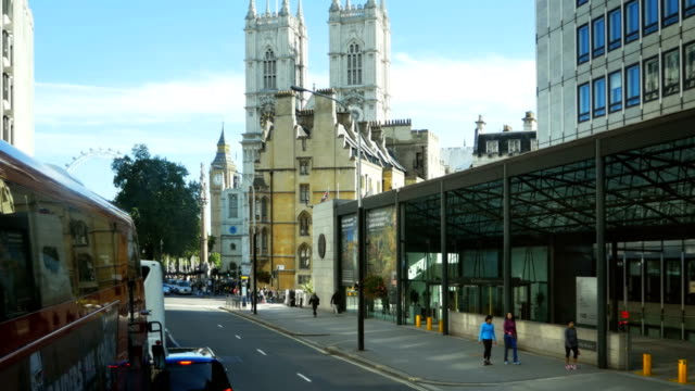 ロンドン victoria street と westmister 修道院(4 k uhd (hd ) - ランベス点の映像素材/bロール