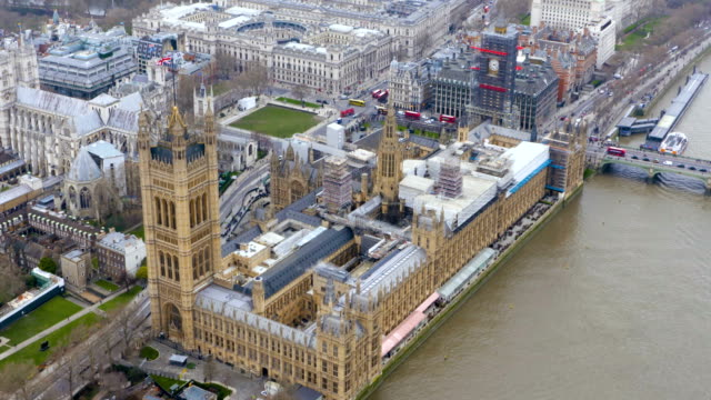 london views from a helicopter - city of westminster london stock videos & royalty-free footage