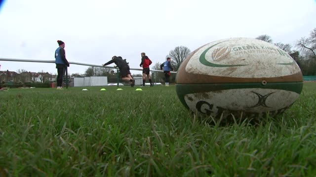 london welsh goes into liquidation england london richmond london welsh rugby club ext various of london welsh rugby union players on pitch during... - liquidation stock videos and b-roll footage