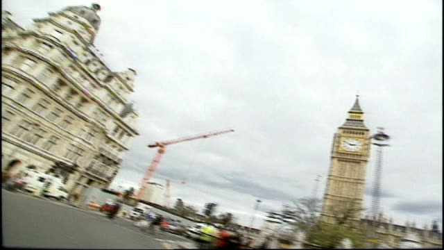 london westminster and parliament - car point of view stock videos & royalty-free footage