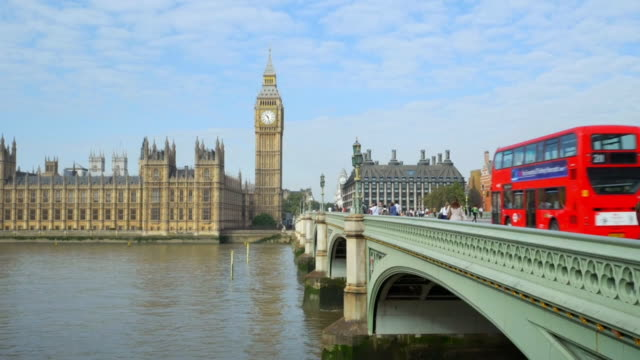 london westminster bridge and big ben cinemagraph - greater london stock videos and b-roll footage