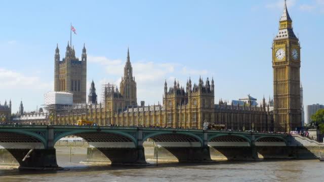 london westminster bridge and big ben cinemagraph - big ben stock videos & royalty-free footage