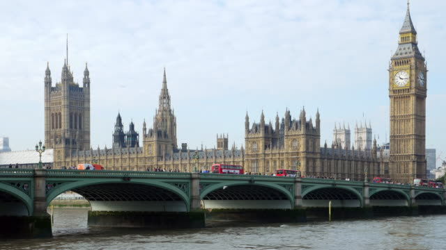 london westminster bridge and big ben - big ben stock videos & royalty-free footage