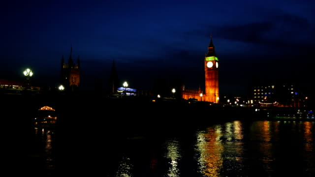 london westminster bridge and big ben - victoria tower stock videos & royalty-free footage