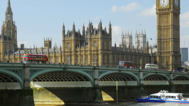 london westminster bridge and parliament cinemagraph - westminster bridge stock videos and b-roll footage