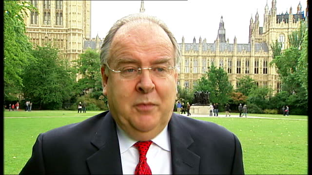 westminster: ext lord falconer interview sot - the public want the government to focus on the economic crisis and the cleaning up of british... - politics and government stock videos & royalty-free footage