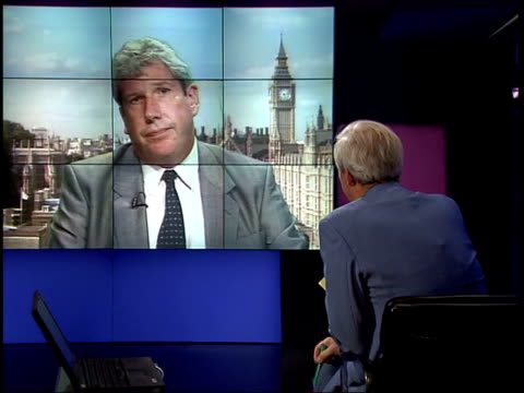 london: westminster: int elliot morley mp interview sot - this has been picked up as early as possible / talks of costs over-running / priority was... - animal mouth video stock e b–roll