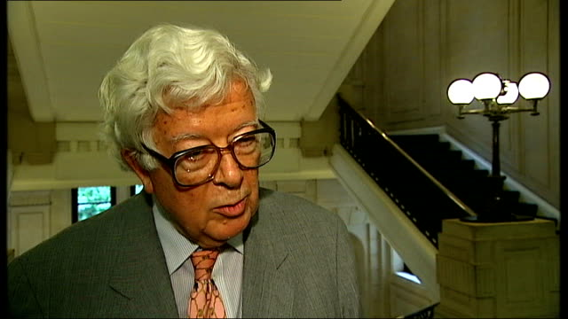 westminster: int lord howe interview sot - talks of taking precautions against eavesdropping and protection against terrorism - 盗み聞き点の映像素材/bロール