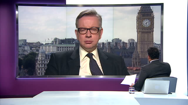 london westminster int michael gove mp 2way interview sot met prime minister last tuesday and he asked me to take on this new role if i wanted to i... - 女性教師点の映像素材/bロール