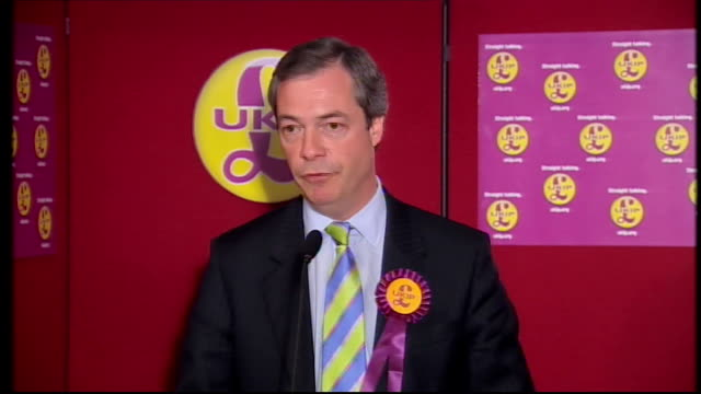 nigel farage mep speech sot - choice british public are being offered is not for a change in government but for a change of management...it is time... - nigel farage stock-videos und b-roll-filmmaterial