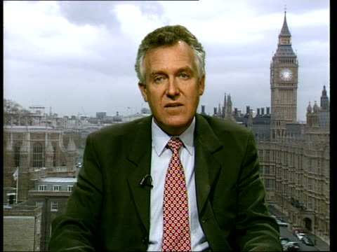 london westminster int peter hain interview sot further violence comes on top of eight members of the predominantly black opposition being killed and... - order of the british empire stock videos and b-roll footage