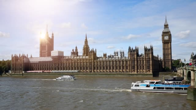 london westminster with sun - big ben stock videos & royalty-free footage