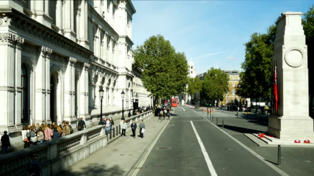 POV London Whitehall Bus Ride