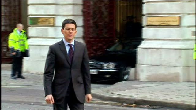 london whitehall ext david miliband mp towards david miliband mp interview sot nothing to do with politics or nuclear enrichment programmes / this is... - david miliband stock videos & royalty-free footage