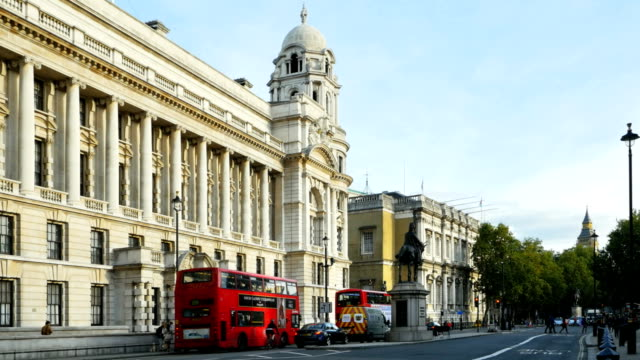 london whitehall government offices (4k/uhd to hd) - government building stock videos and b-roll footage