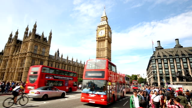 vídeos de stock e filmes b-roll de london with big ben, time lapse - big ben