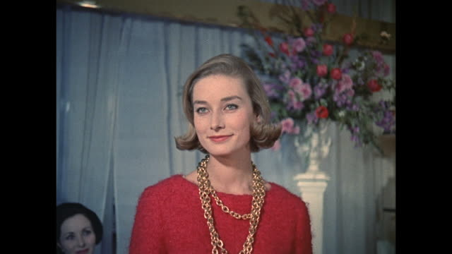 1961 - london - woman shows off her new look at salon - only women stock videos & royalty-free footage