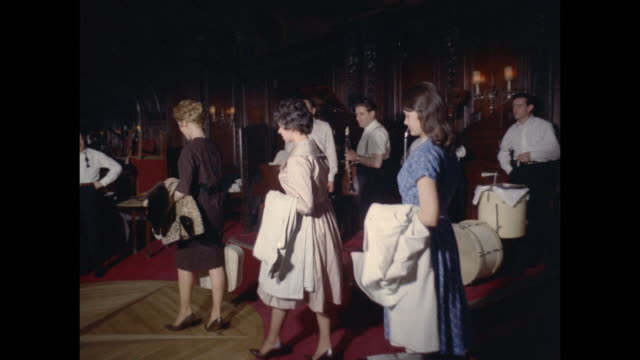 1961 - London - Women looking for job at entertainment club