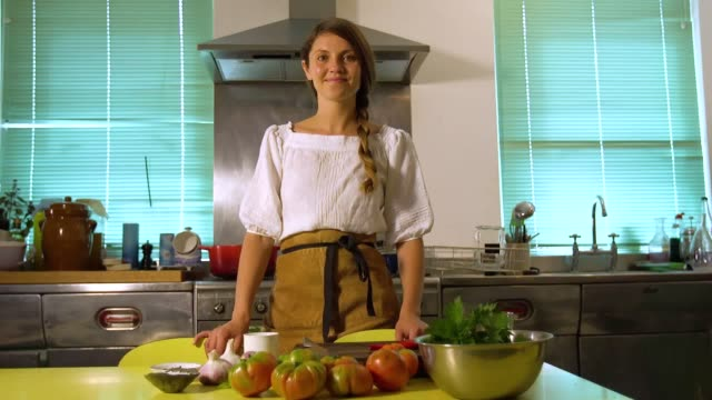 londonbased ukrainian chef olia hercules goes through some easy steps on how to pickle something with minimal ingredients - pickled stock videos and b-roll footage