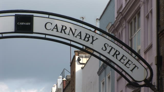 LondonCARNABY STREET signboard in London United Kingdom
