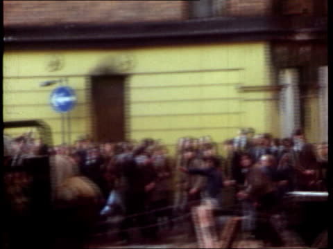 EVIDENCE LIB 30172 Londonderry Footage of civil rights demonstrators throwing missiles Soldiers and armoured vehicles at scene